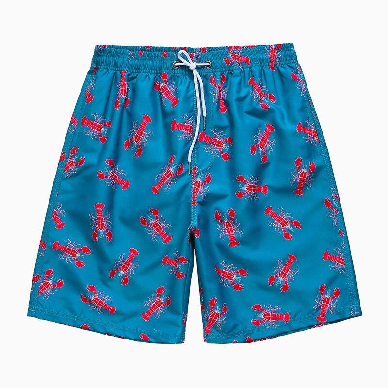 Verão dos Homens Shorts de Secagem Praia Impressão Rápida Natação Board Swim Wear Surf Calças Maiô Masculino Sunga
