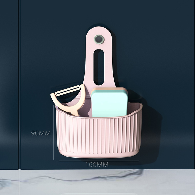 Sink Sponge Storage Rack Hanging Basket Bathroom Accessory Wall-mounted Kitchen Organizer Hanging Suction Cup Storage Holder