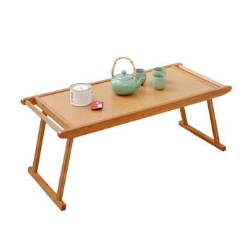 Meble ogrodowe stoły ogrodowe przenośny stolik do herbaty bambusowy stolik na laptopa składany stolik kawowy tatami biurko 76 96*43*23cm tanie i dobre opinie Ecoz CN (pochodzenie) BAMBOO Japanese Samowystarczalny Rectangle Na zewnątrz tabeli Nowoczesne Drewna