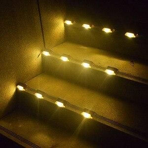 Image 5 - 12 יח\חבילה שמש אור חיצוני עמיד למים חצר מדרגות אור גן גדר שמש מנורה
