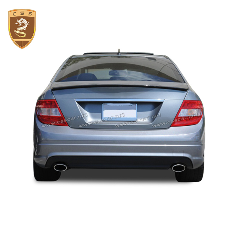 Fit For <font><b>Mercedes</b></font> <font><b>Benz</b></font> <font><b>C</b></font> <font><b>Class</b></font> <font><b>W204</b></font> AMG 4-Door Rear <font><b>Spoiler</b></font> A style Auto Accessories image