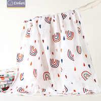 Elinfant-edredón de muselina de algodón lavable para bebé, mantas para bebé recién nacido, Toalla de baño de gasa blanca y negra, envío gratuito