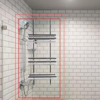 Estantes de baño de 3 capas de acero inoxidable, sin perforación, soporte para Gel de ducha y champú, 80x30cm, HWC