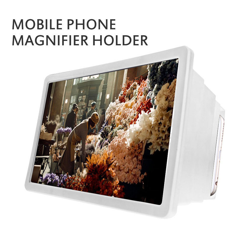 Universal Portable 3D Video Enlarge Smartphone Screen Magnifier Clear Amplifiers HD Projector Stand Holder Bracket For Phone