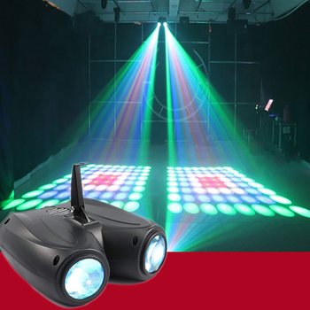 20W 64/128pcs RGBW LED Pattern Stage Light Double Head Airship Lamp Projector DJ Disco Party lights Cool effects stage lighting
