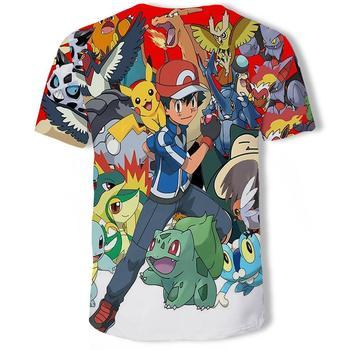 New Fashion Hip Hop Streetwear Harajuku Pokemon 3d digital printing animation Graphic unisex t-shirt Tops Casual gym Tee Shirt 2