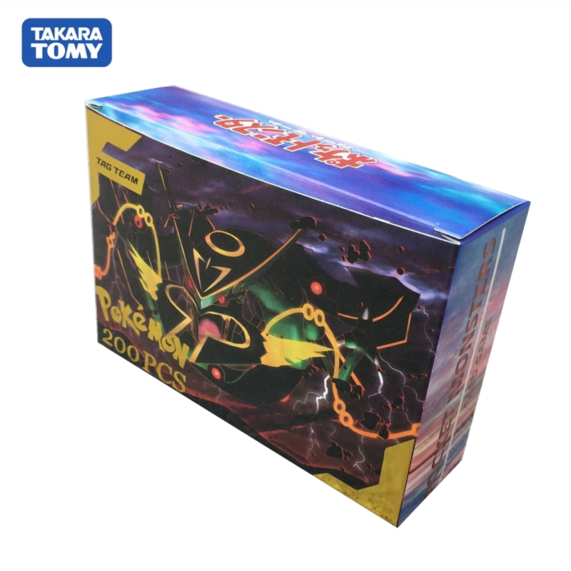 200pcs/box 100 120pcs Pokemon Cards TAG TEAM New Version Trading Card Game Collection Products
