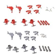 Metal Upgraded Parts Steering Cup Swing Arm Shock Absorber Plate Set for Wltoys P929 P939 K969 K979 K989 K999 1/28 RC Car