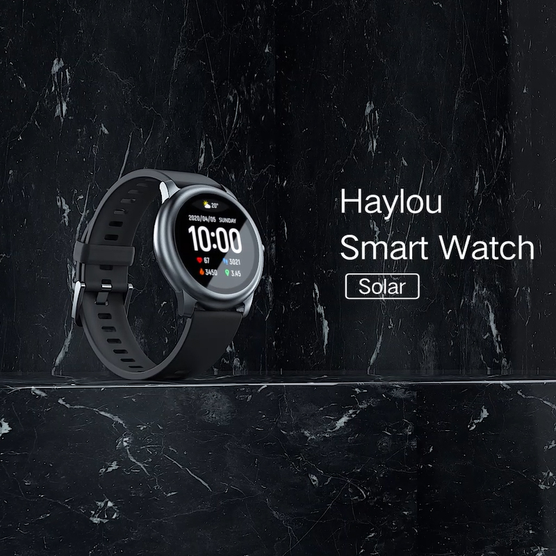 Haylou Solar Smart Watch LS05 Sport Metal Heart Rate Sleep Monitor IP68 Waterproof iOS Android Global Version from Youpin