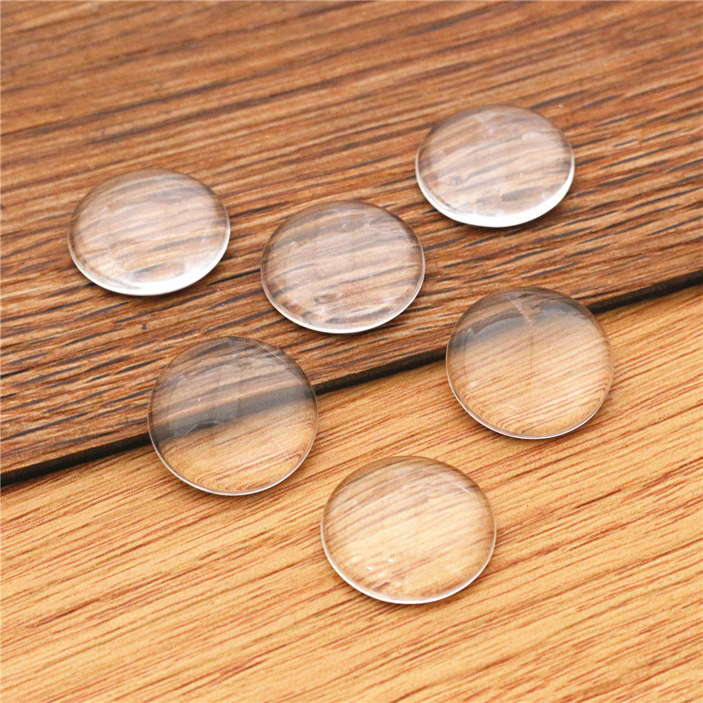 50pcs/lot 16mm Round Flat Back Clear Glass Cabochon, High Quality, Lose Money Promotion!!!(Z2-06)