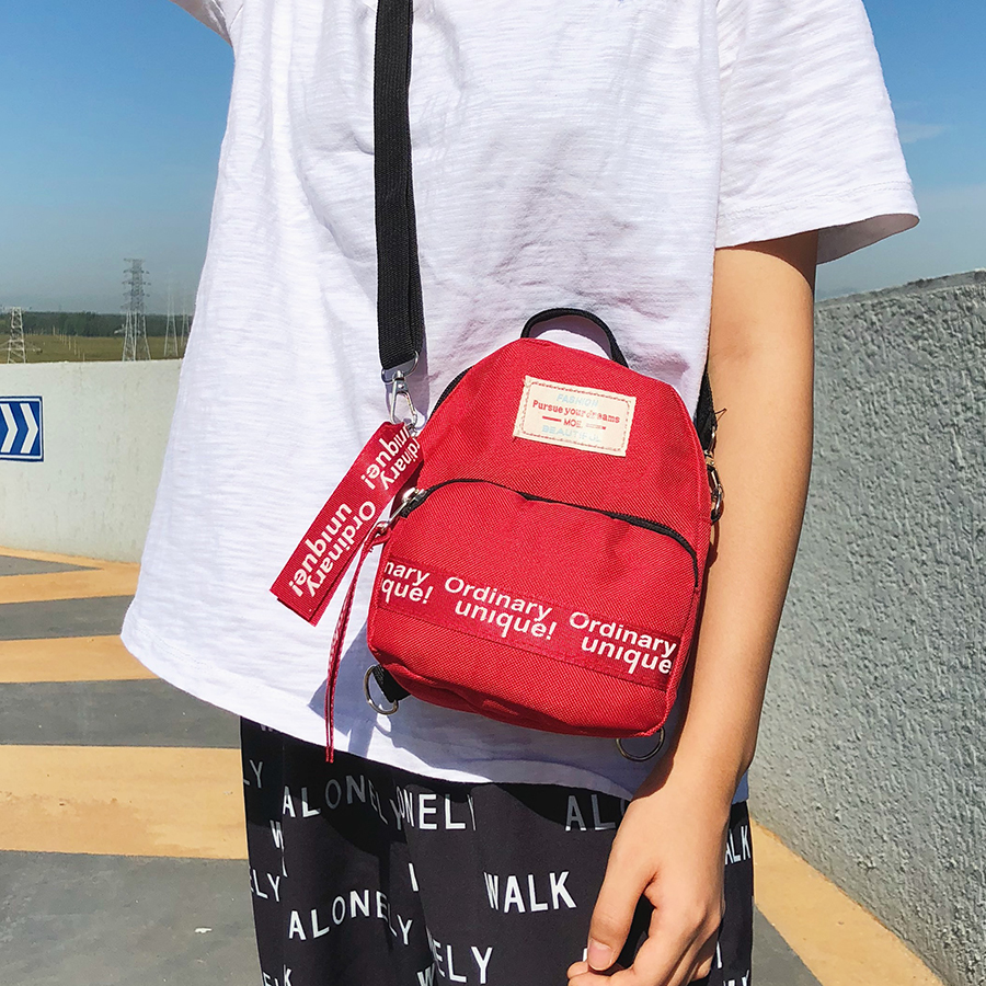 2019 Mini Backpack Women's Canvas Female Shoulder Bag Multi-Function Small Bagpack Female Phone Pouch Korean Style Crossbody Bag