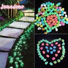 50 шт. Сад декор светящийся камни свечение в темноте декоративные галька открытый рыба аквариум украшение галька камни аквариум смесь цвет