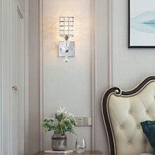 Прочный зеркальный передний светильник декоративный без лампы домашний настенный светильник E27 розетка гостиная светильник кристалл с подвеской искусство современный