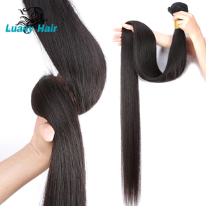 Image 5 - Luasy Brazilian Hair Weave Bundles Straight 100% Remy Hair Extension Natural color 30 32 34 36 38 40 inch Human Hair Bundles