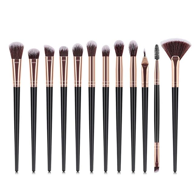 12PCS Makeup Brushes Set Eye Shadow Eyeshadow Brushes Foundation Extension Make up Brush Kits pincel Maquiagem For Makeups Tools 3