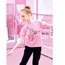 T-Shirts Short-Sleeve Ballet Dance-Training Girls Solid-Color Summer Kids for Soft-Printing