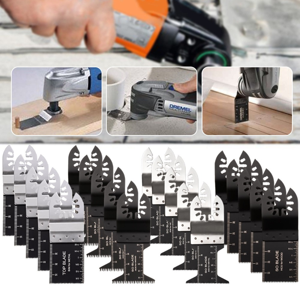 20Pcs/Set Oscillating Multi Tool Saw Blade For Fein Bosch Multimaster Makita Bosch Cutting Wood Tools For Renovator Power Blades
