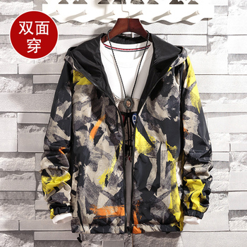 jacket Coats Plus Size S-5XL Causal Hooded Camouflage Jacket Thin Windbreaker Outwear Spring Autumn Bomber double-faced Jackets