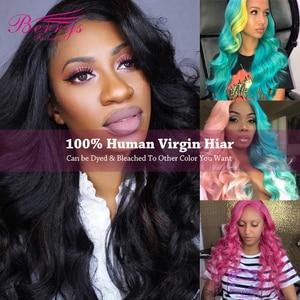 Image 2 - Berrys Fashion Body Wave حزم شعر طويلة 10 32 بوصة شعر عذراء برازيلي 3 حزم شعر بشري غير مُعالج لحمة