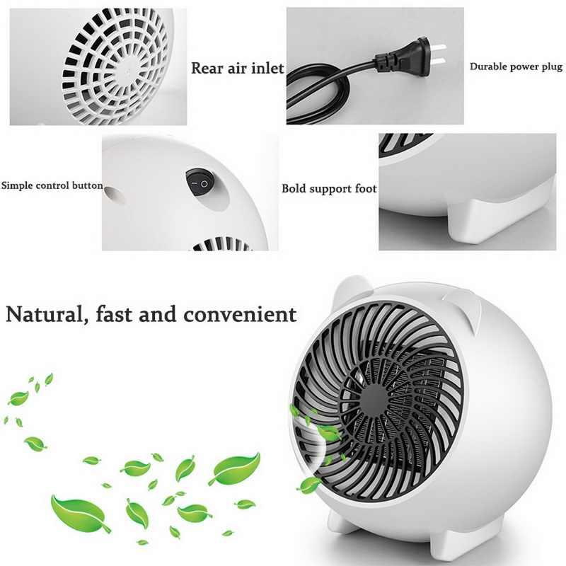Chauffage par ventilateur chaud Mini chauffage bureau Ultra-silencieux mignon chauffage électrique maison bureau mur pratique chauffage poêle radiateur pour ménage