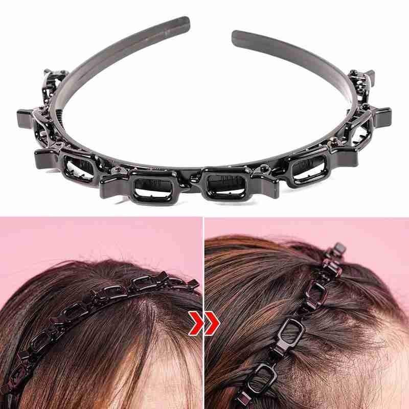 1 шт. двойная челка, зажим, повязка для волос, полые плетеные челки, повязка на голову, двойная челка, заколка для волос, повязка на голову для ...