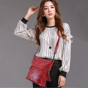 Image 2 - Soft Retro Tote Oil Leather Bucket Sac Luxury Handbags Women Bags Designer Ladies Shoulder Crossbody Hand Bags for Women 2020