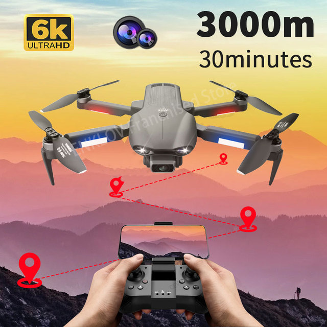 2021 Newest F9 GPS Drone 6K Dual HD Camera Professional Aerial Photography Brushless Motor Foldable Quadcopter RC Distance 3000M 1