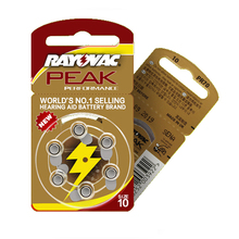 שמיעה 30 PCS/5 כרטיסי RAYOVAC PEAK A10/PR70/10 אבץ אוויר batterie 1.45V גודל קוטר 5.8mm עובי 3.6mm