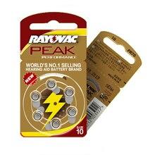 İşitme pilleri 30 adet/5 kart RAYOVAC PEAK A10/PR70/10 çinko hava pil 1.45V boyutu çapı 5.8mm kalınlığı 3.6mm