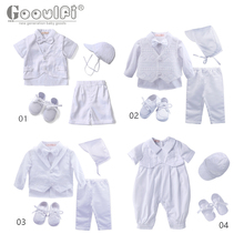 Gooulfi Baby Outfit Clothing Baptism-Set Formal-Costume Christening Toddler Newborn Long-Sleeve