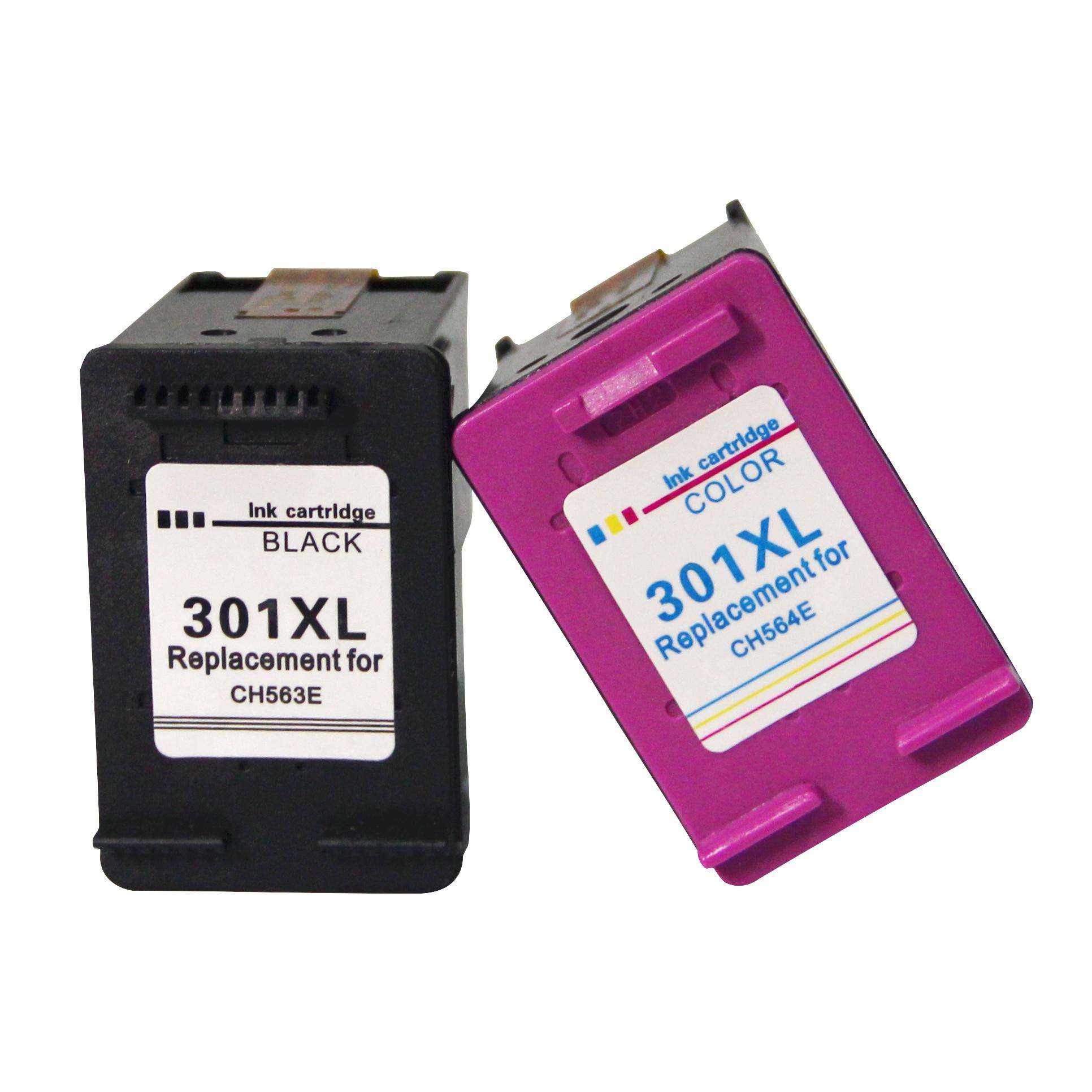 301 xl substituição do cartucho de tinta recarregada para hp/hp 301 xl para hp/hp 301 ch563ee ch564ee para hp deskjet 1000 1050 2050 3000
