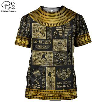 PLstar CosmosHorus Ancient Horus Egyptian God Eye of Egypt Pharaoh Anubis face 3dPrint T-shirt Men/Women Unisex Streetwear S-1 rev michael day god s divine alignment god s divine assignment volume 1