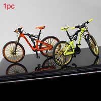 1:10 Crafts Simulate Riding Free Standing Office Children Toy Figurine Home Decor Rotatable Bike Model Zinc Alloy Ornament