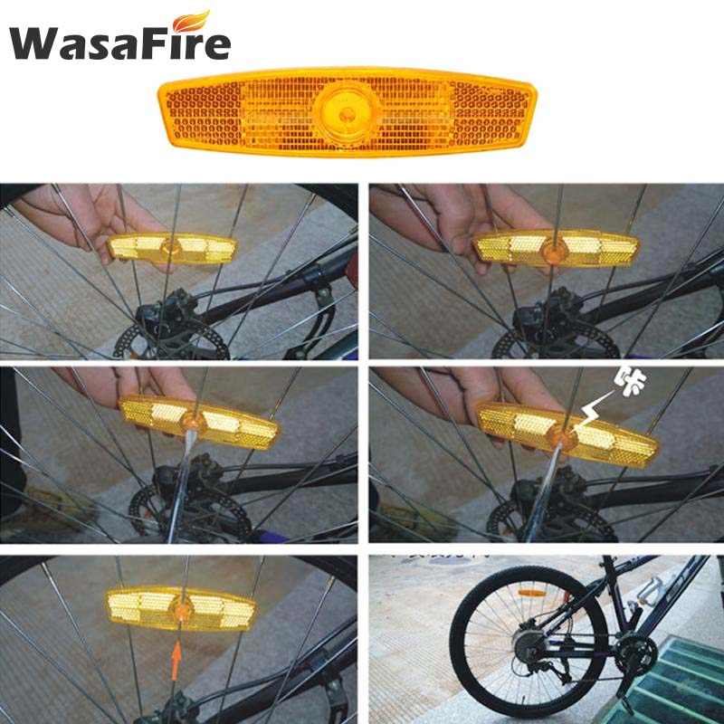 1Pair bicycle spoke reflector warning light bicycle wheel rim reflective  JKCA