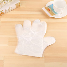 Transparent Disposable Gloves Kitchen Accessories Cooking Eco-friendly For Food Cleaning Plastic Disposable Gloves Protective(China)