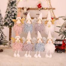 2020 New Year Christmas Decorations Christmas Tree Pendants Plush Angel Doll Pendant Elf Pendant Standing(China)