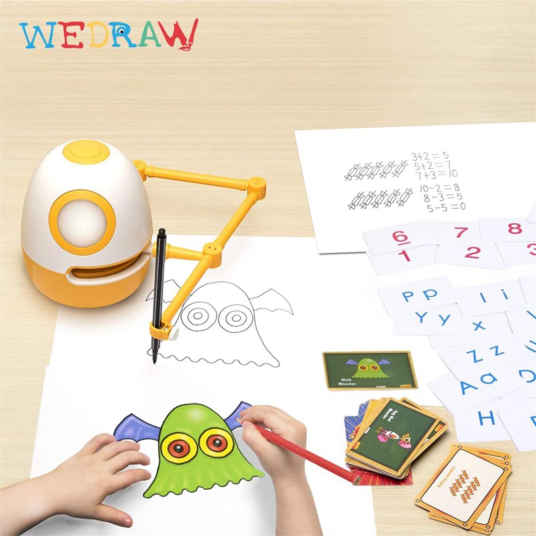 wedraw eggy criancas desenho robo genio kit 04