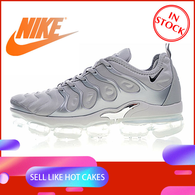 Original Authentic 2018NIKE VAPORMAX PLUS Men's Running Shoes Comfortable Wear Outdoor Sports Shoes Quality 924453-005