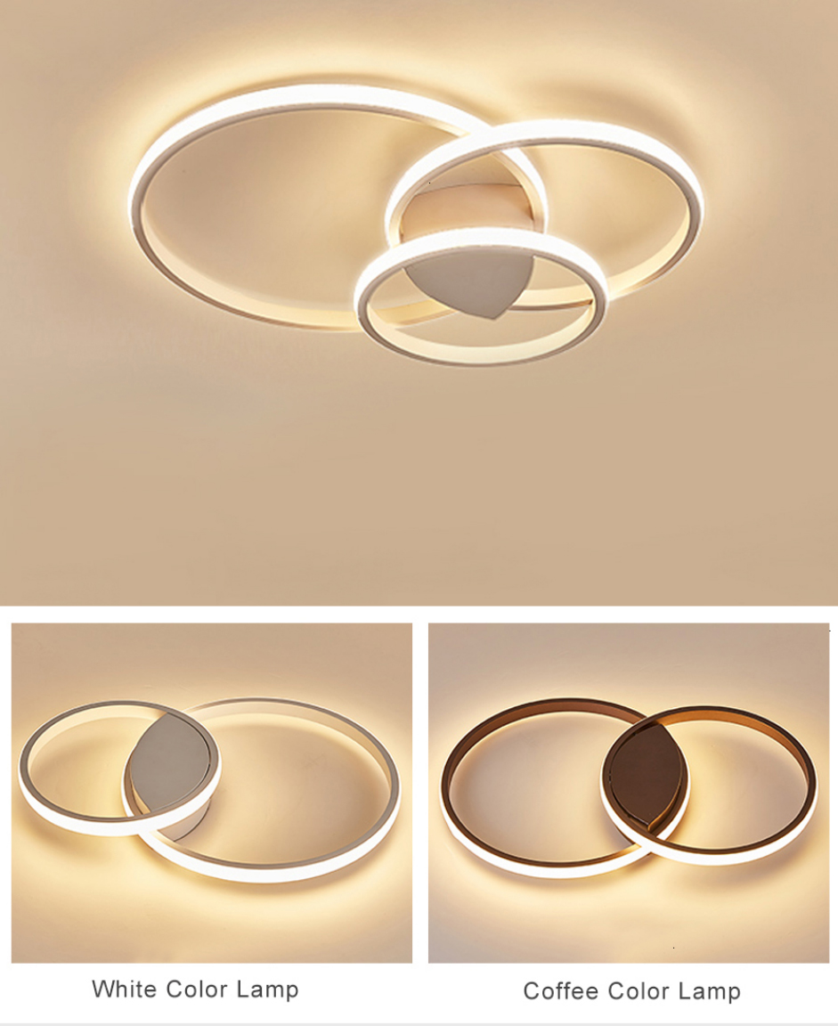 H933cde27ddca41f5b316bbca41d817fdF Led Ceiling lamp For Living Room Bedroom Study Room Home Deco AC85-265V Modern White/Coffee surface mounted Ceiling Lamp