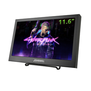 Gaming Monitor 11.6 inch 1920x1280 HD IPS Portable Monitor for PS3 PS4 Computer Diplay with VGA HDMI Interface Built in Speakers