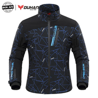 DUHAN Autumn Winter Motorcycle Jacket Men Heated Moto Jacket Electric Heating Motorbike Motocross Racing Riding Jacket