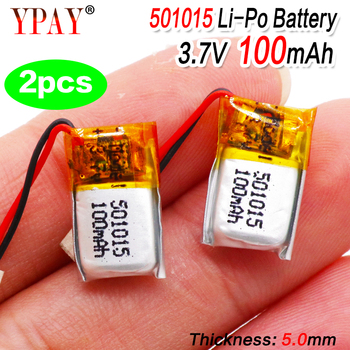 3.7V 40mah 401215 Lithium Polymer ion Li-ion Battery for MP3 MP4 MP5 GPS Bluetooth Headset Sound Toy Rechargeable Li-po Battery 2pcs