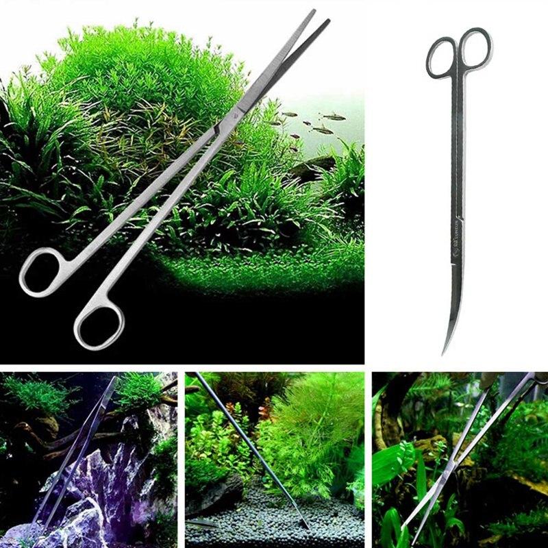 Aquarium Maintenance Tools Kit Tweezers Scissors For Live Plants Grass Aquario Accessory Fish Aquatic Pet Supplies