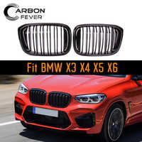 2-Line Racing Grille For BMW X series X3 X4 X5 X6 G01 G02 E70 E71 F15 F16 F25 F26 ABS Gloss Black M color