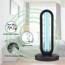 38W UVC Germicidal Disinfection Light Air Sanitizer Purifier Odor Eliminators for Rooms Cabinets Wardrobe Deodorizer Ozone Light