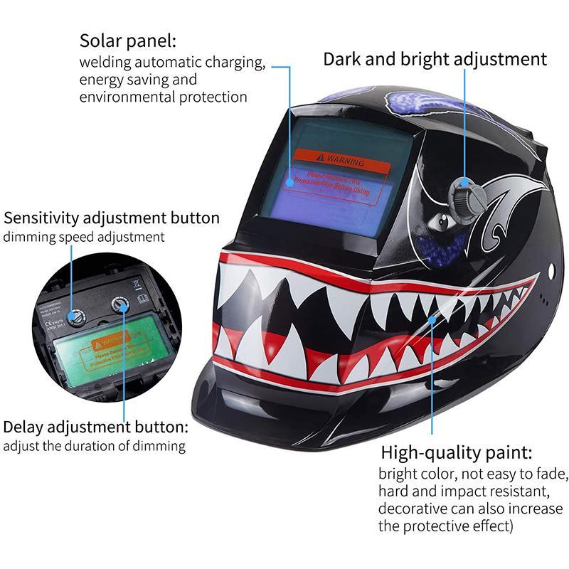 Mascara Soldar de soldadura auto oscurecimiento rango ajustable para MIG MMA TIG