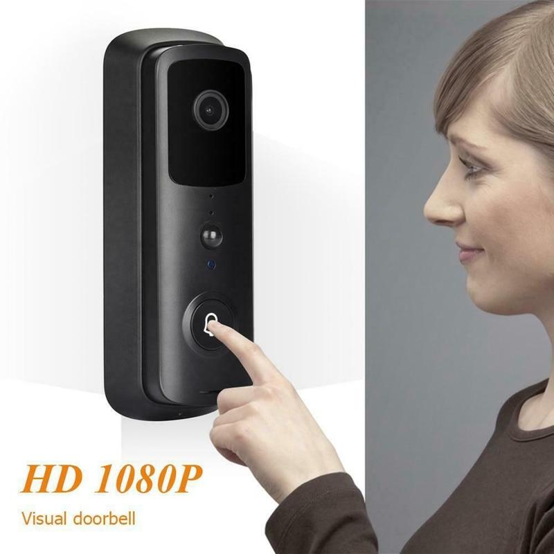 V30 WiFi Smart IP Video Doorbell 1080P Wireless Night Vision IR Alarm Video Intercom Camera Doorbell Black