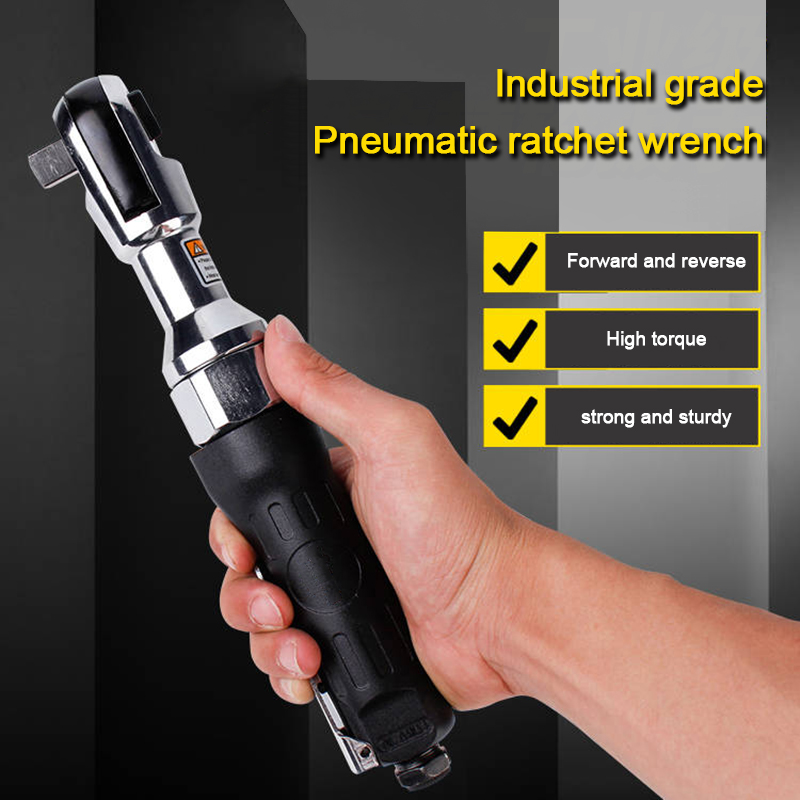 Auto Repair Pneumatic Tools Industrial-grade Pneumatic Perforated Ratchet Wrench Hexagon size : 14mm Perforated Hexagon Socket Wrench