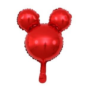 Image 3 - GIHOO 5/10pcs Mini Head Aluminum Foil Balloons Childrens Day Toy 30x45cm Cartoon Balloon Child Birthday Party Decoration
