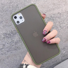 Luxury Transparent Matte Case For iphone 11 Pro MAX XS XR X Shockproof Silicone soft Phone Case For iPhone 6 6s 7 8 Plus Cover luxury transparent matte case for iphone 11 pro xs max xr x hybrid shockproof silicone phone case for iphone 6 6s 7 8 plus cover